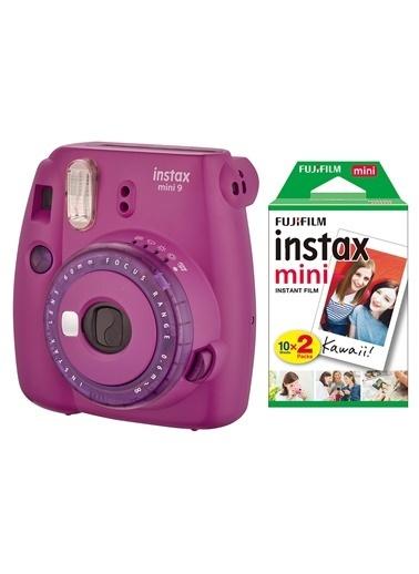 Fujifilm instax mini 9 Mor Fotograf Makinesi & 20'li Film Renkli